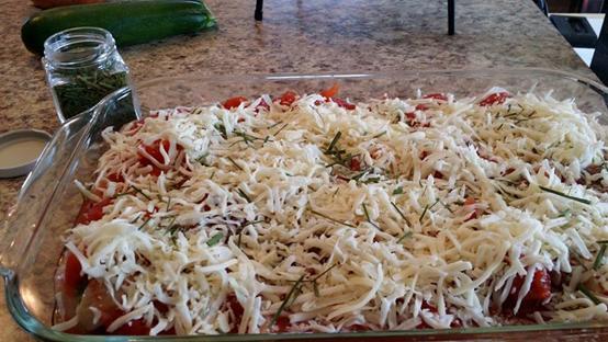 Lasagne aux zucchinis parfumée de fleurs d'ail