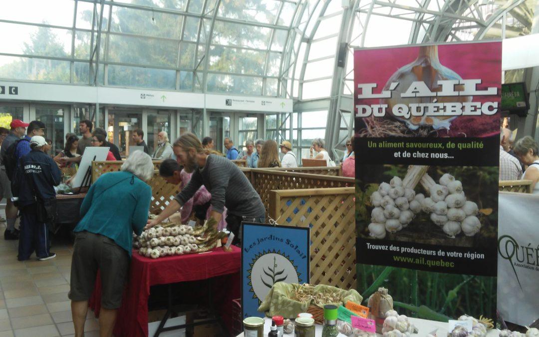 Fête de l'ail 2017 au Jardin botanique de Montréal