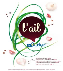 Cahier spécial sur l'ail du Québec dans La Terre de chez nous