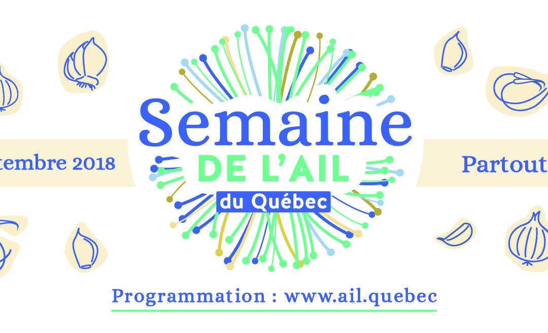 Dévoilement de la programmation de la toute première Semaine de l'ail du Québec